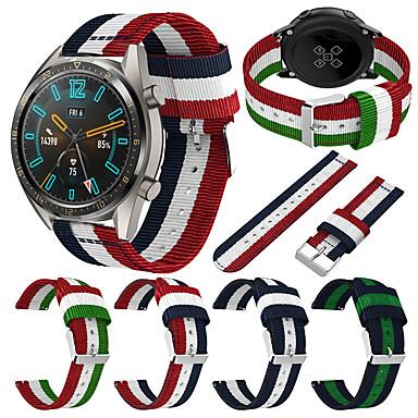 voordelige Smartwatch-accessoires-22mm nylon horlogeband polsband voor Huawei Watch GT Active / GT 2 46mm / Honour Magic / Watch 2 pro vervangbare armband polsband