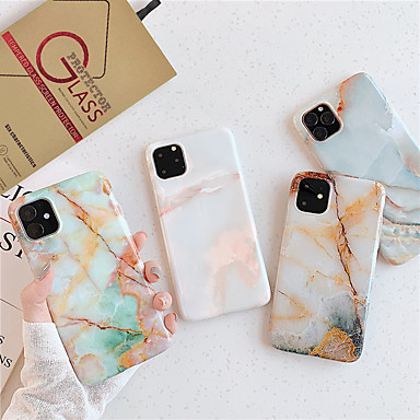 voordelige iPhone-hoesjes-hoesje met schermbeschermer voor Apple iPhone 11 / iPhone 11 pro / iPhone 11 pro max stofdicht / imd achterkant marmer TPU voor iPhone 7/7 p / 8/8 p / 6/6 plus / x / xs / xr / xs max