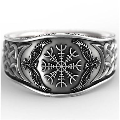Bărbați Inel 1 buc Argintiu Geometric Shape Vintage Zilnic Concediu Bijuterii Geometric Floare Cool