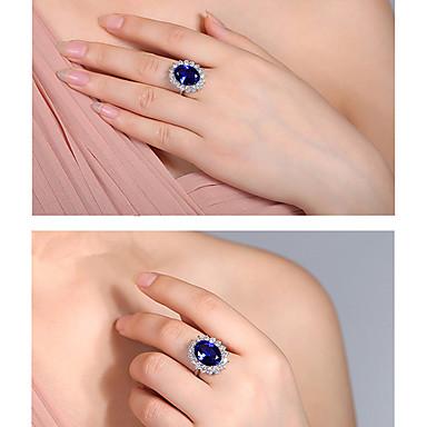 ieftine Inele-printesa diana kate verigheta deschisa reglabila naturala regala albastru piatra inel alb auriu bijuterii botezate inel de logodna