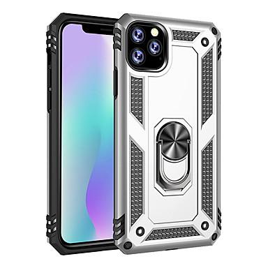 Недорогие Кейсы для iPhone 6 Plus-чехол для apple iphone 11 / iphone 11 pro / iphone 11 pro max ударопрочный / держатель кольца задняя крышка сплошной цветной тпу