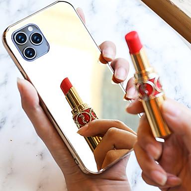 رخيصةأون أغطية أيفون-حالة مرآة لفون 11 / اي فون 11 الموالية / اي فون / اي فون 7 لينة tpu الوفير الزجاج الغطاء الخلفي للماكياج اللمس والظهر الكاميرا selfies