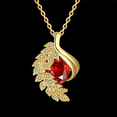 نسائي مكعب زركونيا قلائد الحلي هندسي وردة موضة مطلية بالذهب ذهبي 45+5 cm قلادة مجوهرات 1PC من أجل مناسب للبس اليومي عمل