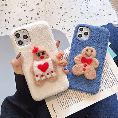 voordelige iPhone-hoesjes-hoesje Voor Apple iPhone 11 / iPhone 11 Pro / iPhone 11 Pro Max Patroon / DHZ Achterkant Cartoon / Pluche TPU
