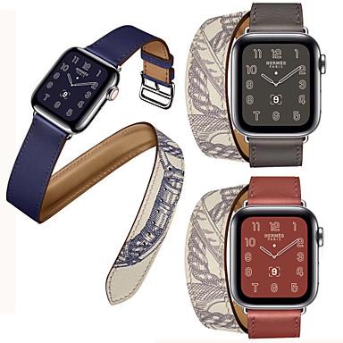 horlogeband voor Apple Watch-serie 5/4/3/2/1 Apple Classic gesp lederen band