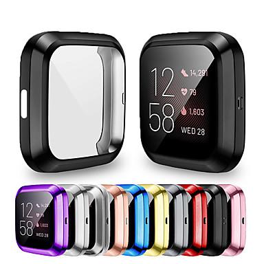 voordelige Horlogebandjes voor Fitbit-zachte beplating TPU beschermende doorzichtige horlogekast voor fitbit versa 2 case cover shell screen protector