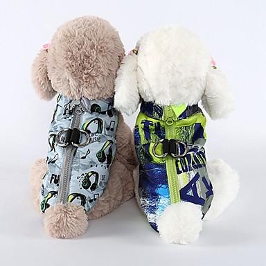 رخيصةأون ملابس وإكسسوارات الكلاب-كلاب سترة Waterproof جاكيتات ريش الشتاء ملابس الكلاب تمويه اللون أزرق فاتح أبيض كوستيوم فصيل كورجي كلب صيد شبعا اينو مادة مختلطة هندسي حيوان ببيونة كاجوال / يومي دافئ / تدفيئ S M L XL XXL