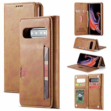 Недорогие Чехлы и кейсы для Galaxy S-роскошный чехол для samsung galaxy s10 plus s10e s9 plus чехол для телефона кожаный флип кошелек магнитная крышка