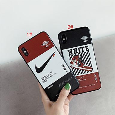Недорогие Кейсы для iPhone 6-Кейс для Назначение Apple iPhone XS / iPhone XR / iPhone XS Max IMD / С узором Кейс на заднюю панель Слова / выражения ТПУ