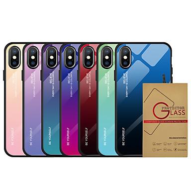 voordelige iPhone 6 Plus hoesjes-hoesje met schermbeschermer voor Apple iPhone 11/11 pro / iphone 11 pro max stofdicht / ultradunne achterkant kleurverloop TPU / getemperd voor iPhone 7/7 p / 8/8 p / 6/6 plus / x / xs / xr / xs max