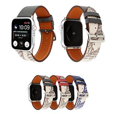 voordelige Smartwatch-accessoires-riem voor Apple iwatch-serie 5 4 3 2 1 lederen horlogeband horlogeband voor Apple horlogeband 40 mm / 44 mm / 38 mm / 42 mm