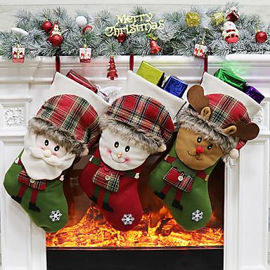 povoljno Dekoracija doma-božićne čarape čarape od djeda Božićnjaka novogodišnje poklon bombonske vrećice