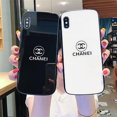 Недорогие Кейсы для iPhone 6 Plus-Кейс для Назначение Apple iPhone 11 / iPhone 11 Pro / iPhone 11 Pro Max С узором Кейс на заднюю панель Слова / выражения Закаленное стекло