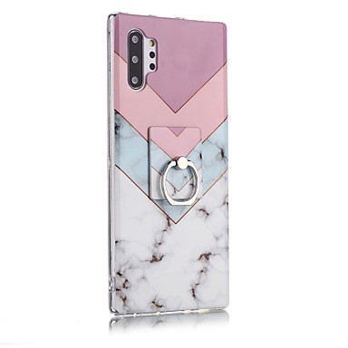 voordelige Galaxy Note-serie hoesjes / covers-hoesje Voor Samsung Galaxy Note 9 / Note 8 / Galaxy Note 10 Ringhouder / Ultradun / Patroon Achterkant Marmer TPU