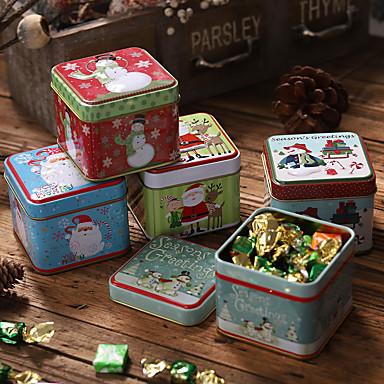 povoljno Dekoracija doma-bombonska kutija za skladištenje konzervi božićni pokloni limarija kutija za spremanje kolačića