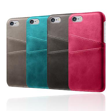 voordelige iPhone 5 hoesjes-hoesje voor Apple iPhone XR / iPhone XS Max schokbestendige achterkant Effen zacht TPU / PU-leer voor iPhone 5 / 5e / 5s / 6 / iPhone 6 plus / 7 / 7pius / 8 / 8pius / x / xs