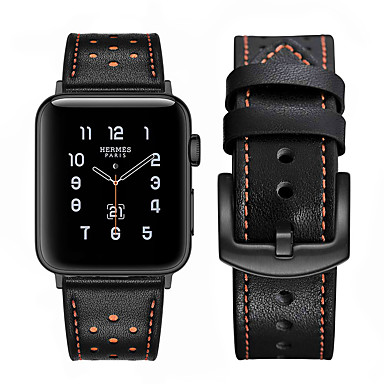 abordables Correas para Apple Watch-correa de reloj para apple watch series 5 4 3 2 1 bucle de cuero de manzana correa de muñeca de cuero genuino