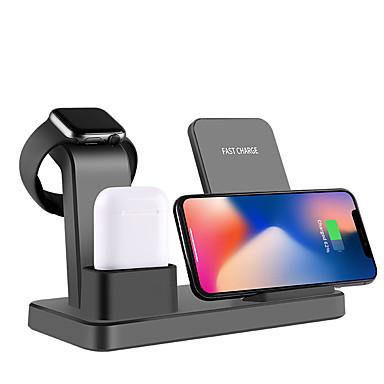 voordelige Smartwatch-accessoires-draadloze oplader qi multifunctionele 3 in 1 snelle draadloze oplader voor apple iphone / iwatch / airpods / iphone 11 / iphone 11 pro / iphone 11 promax en andere android smartphones