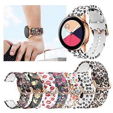 Недорогие Часы для Samsung-печать силиконовый ремешок для часов для samsung galaxy watch active 2 / galaxy watch 42mm / gear sport / gear s2 classic сменный браслет ремешок на запястье браслет