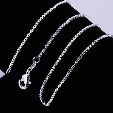 povoljno Modne ogrlice-Žene Lančići Klasičan dragocjen Jedinstven dizajn Moda Kamen Glina Srebro 45,56,61 cm Ogrlice Jewelry 1pc Za Dnevno Ulica Rad
