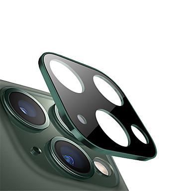 voordelige iPhone screenprotectors-metalen rand 9h gehard glas cameralensbeschermer voor iphone 11 pro / 11 pro max