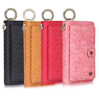 cheap Galaxy Note Series Cases / Covers-Multifunction Wristband Leather Holster Case For Samsung Note 10 Plus 9 8 Wallet / Genuine Leather / Shockproof Solid Colored Cases