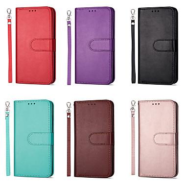 voordelige Huawei Mate hoesjes / covers-hoesje Voor Huawei Huawei P20 / Huawei P20 Pro / Huawei P20 lite Kaarthouder Volledig hoesje Effen / Tegel PU-nahka