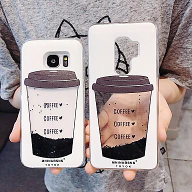 Недорогие Чехлы и кейсы для Galaxy S-Кейс для Назначение SSamsung Galaxy S9 / S9 Plus / S8 Plus Движущаяся жидкость / С узором / Сияние и блеск Кейс на заднюю панель Продукты питания ТПУ