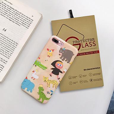 voordelige iPhone-hoesjes-hoesje met schermbeschermer voor Apple iPhone 11 / iPhone 11 pro / iPhone 11 pro max stofdicht achterkant cartoon TPU voor iPhone 7/7 p / 8/8 p / 6/6 plus / x / xs / xr / xs max