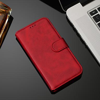 Недорогие Чехлы и кейсы для Nokia-Кейс для Назначение Nokia Nokia 9 PureView / Nokia 7.1 / Nokia 4.2 Кошелек / Бумажник для карт / со стендом Чехол Однотонный Кожа PU