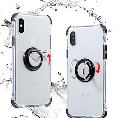 voordelige iPhone 6 Plus hoesjes-hoesje Voor Apple iPhone XS / iPhone XR / iPhone XS Max Ringhouder / Transparant Achterkant Effen / Transparant TPU