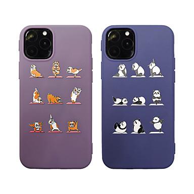 voordelige iPhone 6 Plus hoesjes-yoga hond / panda patroon tpu hoesje voor Apple iPhone 11 pro max 8 plus 7 plus 6 plus max. achterkant