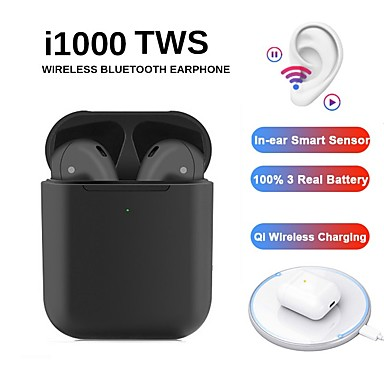 povoljno Headsetovi i slušalice-blackpods i1000 tws istinske bežične ušice u glasu hey siri kontrola 100% h1 funkcija čipa bežična qi punjenje inear provjera automatsko otkrivanje uha i zaustavljanje pop-up bluetooth-a 5.0