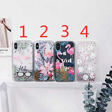 voordelige iPhone-hoesjes-hoesje Voor Apple iPhone 11 / iPhone 11 Pro / iPhone 11 Pro Max Stromende vloeistof / Patroon / Glitterglans Achterkant Tegel / dier / Bloem TPU