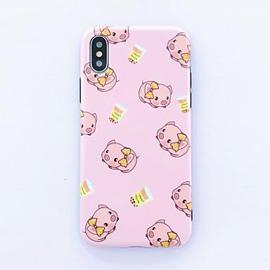 voordelige iPhone 6 Plus hoesjes-scrub cartoon roze vlinder varken iphone xs max mobiele shell x persoonlijkheid creatief xr jeugd 6plus schattige meisjes 7plus siliconen 8plus mode druppel mobiele telefoon hoesje