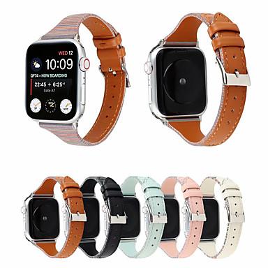 voordelige Smartwatch-accessoires-horlogeband voor Apple Watch-serie 5/4/3/2/1 Apple Sport-band lederen polsband