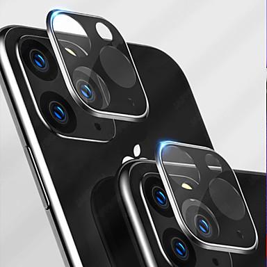 voordelige iPhone screenprotectors-Apple 1 stks achteruitrijcamera beschermfolie voor iphone11pro multicolor groen zwart metalen frame mobiele telefoon lens 11pro beschermfolie gehard glas film krasbestendig anti-vingerafdruk set