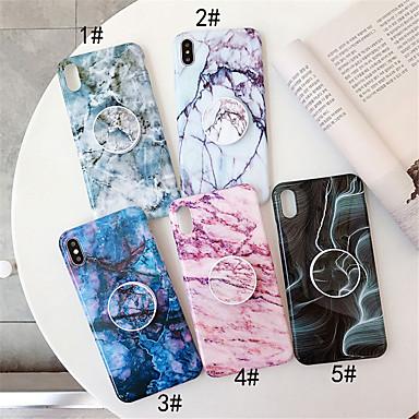 Недорогие Кейсы для iPhone 6 Plus-Кейс для Назначение Apple iPhone 11 / iPhone 11 Pro / iPhone 11 Pro Max со стендом / IMD / С узором Кейс на заднюю панель Мрамор ТПУ