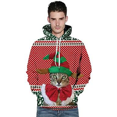 رخيصةأون كنزات هودي رجالي-هوديي رجالي كارتون عيد الميلاد
