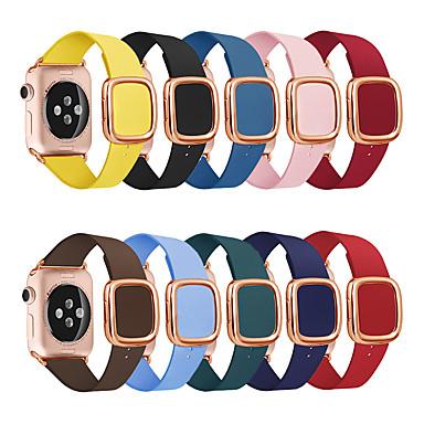 ราคาถูก สายนาฬิกาสำหรับ Apple Watch-สายนาฬิกาสำหรับแอปเปิ้ลดูซีรีส์ 5/4/3/2/1 แอปเปิ้ลโมเดิร์นหัวเข็มขัดสายรัดข้อมือหนังแท้