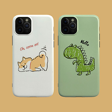 Недорогие Кейсы для iPhone 6 Plus-Кейс для Назначение Apple iPhone 11 / iPhone 11 Pro / iPhone 11 Pro Max IMD / С узором Кейс на заднюю панель С собакой / Мультипликация ТПУ