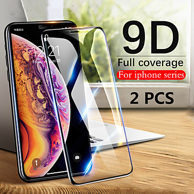 Недорогие Защитные плёнки для экрана iPhone-2шт 9d закаленное стекло полный экран протектор для iphone 11/11 pro / 11 pro max / xs max / xr / xs / x