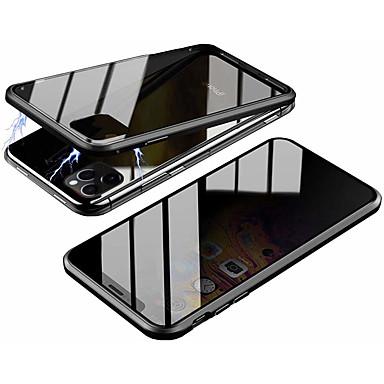 Недорогие Кейсы для iPhone 6-Кейс для Назначение Apple iPhone 11 / iPhone 11 Pro / iPhone 11 Pro Max Магнитный Чехол Однотонный Закаленное стекло