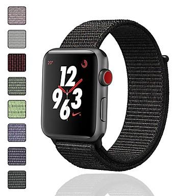 Недорогие Аксессуары для смарт-часов-Ремешок для часов для Серия Apple Watch 5/4/3/2/1 Apple Спортивный ремешок / Дизайн украшения Нейлон Повязка на запястье