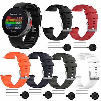 voordelige Watch band for Polar-horlogeband voor polar vantage v polar sportband / klassieke gesp / moderne gesp siliconen polsband