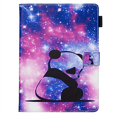 povoljno Maske za mobitele-Θήκη Za Samsung Galaxy Samsung Tab A 10.1 (2019) T515 / Galaxy Tab A 10.5 T595 T590 Utor za kartice / Otporno na trešnju / sa stalkom Korice Panda PU koža