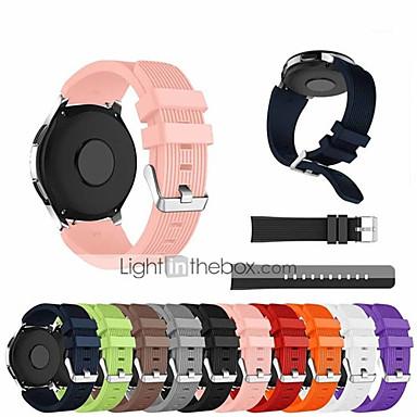 Недорогие Часы для Samsung-ремешок для часов s3 frontier / gear s3 classic / gear s2 classic samsung galaxy classic пряжка, силиконовый ремешок