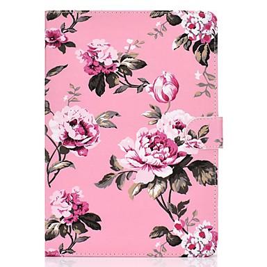 رخيصةأون أغطية أيباد-غطاء من أجل Apple iPad Air / iPad (2018) / iPad Pro 11'' محفظة / حامل البطاقات / مع حامل غطاء كامل للجسم زهور جلد PU