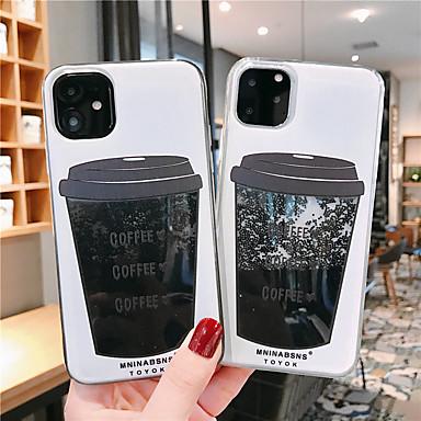 voordelige iPhone-hoesjes-hoesje Voor Apple iPhone 11 / iPhone 11 Pro / iPhone 11 Pro Max Stromende vloeistof / Patroon / Glitterglans Achterkant Voedsel TPU