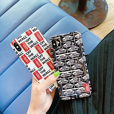 voordelige iPhone 6 hoesjes-hoesje Voor Apple iPhone XS / iPhone XR / iPhone XS Max IMD / Ultradun / Patroon Achterkant Woord / tekst TPU